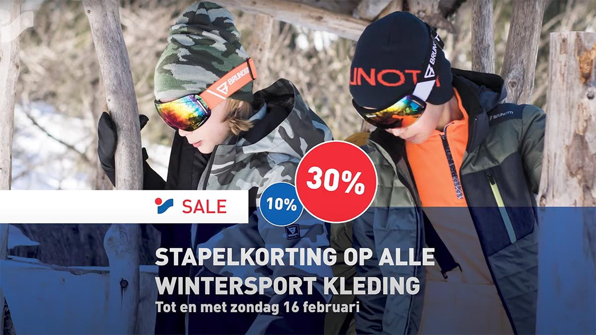 Intersport stapelkorting